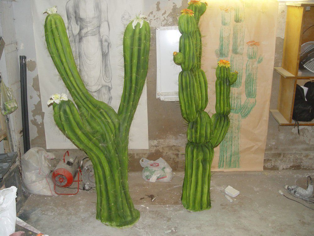 Искусственные кактусы WebDekArt: изготовление декоративных изделий